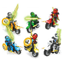 6PCS Ninjago Motorcycle Set Ninja Mini Figures Building Blocks Fit Lego Toys NEW