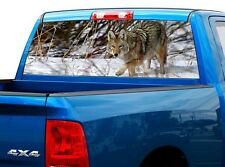P433 Wolf Rear Window Tint Graphic Decal Wrap Back Truck Tailgate