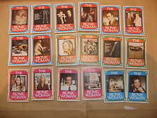 THE BIONIC WOMAN 76 MONTY GUM CARDS SIX MILLION DOLLAR MAN LINDSAY WAGNER MAJORS