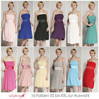 16 Farben Größe XS bis XXL Abendkleid Cocktailkleid Ballkleid von lafairy Mode