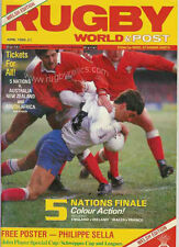 RUGBY WORLD MAGAZINE APRIL 1986 - PERFECT GIFT FOR A FAN BORN IN THIS MONTH