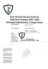 GARY DOCHERTY TOTTENHAM HOTSPUR 1999-2005 ORIGINAL HAND SIGNED CUTTING/CARD