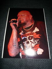 Iron Maiden Paul Di 'Anno signed autógrafo en 20x28 cm foto inperson Look