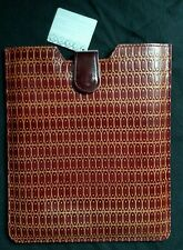 World Market Tablet Computer Padded Sleeve - Embossed Leather -Ovals Design -NWT