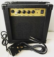 ��INTEMPO GA10 10W Electric Guitar Amplifier/ Amp ➡️ Excellent Condition - Cable