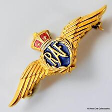 WW2 RAF BUNDLES FOR BRITAIN Sweetheart MONET Badge Brooch - War Relief Society