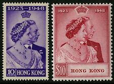Hong Kong   1948   Scott #178-179    Mint Lightly Hinged Set