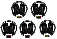 5 New 2 Channel Foldable Wireless DVD TV IR Headphones Headset Fits Honda Acura