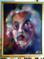 """MENARD Jacques Ecole Languedocienne  XXème""""Portrait de femme""""  Huile sur toile"""