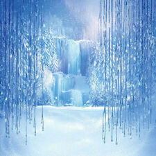 Frozen Waterfall 10'x10' CP Backdrop Computer printed Scenic Background XLX-699