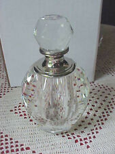 Collectible Perfume Bottle Clear Faceted Glass Twos Company with Wand