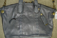 $339 orYANY Cassie Matte Snake Leather Medium Tote ~ SLATE GRAY New