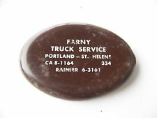 VINTAGE RUBBER COIN PURSE FARNY TRUCK SERVICE PORTLAND ST HELENS RAINIER OR