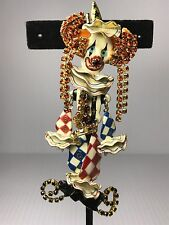 Rare Vintage Lunch at the Ritz Brooch/Pendant RUFFLES THE CLOWN