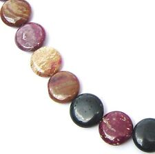 "15.5"" NATURAL Mixed Colors Ocean Jasper Coin Flat Round 20 Beads 20mm K2722"