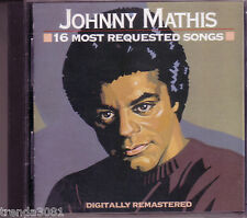 JOHNNY MATHIS 16 Most Requested Songs CD Classic 60s Pop Anthology CHANCES ARE