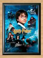 Philosophers Stone Harry Potter Cast Signed Autographed A4 Poster Print Photo