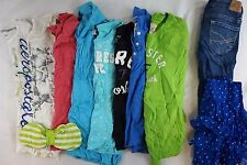 Hollister, Aeropostale Lot of 11 Juniors T-Shirts, Jeans XS Small S 00 C12052