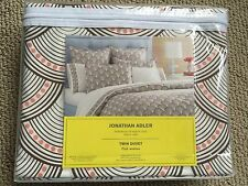 NIB Jonathan Adler Printed Fish Scales 400 TC Twin Duvet