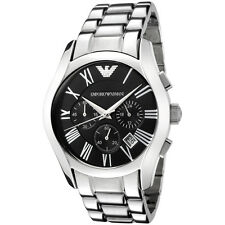 Emporio Armani Gents' Black Dial 50 m Chronorgaph Designer Watch AR0673