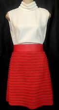 Fendi Skirt Red Woven Lamb Leather Cosmopolitan Short Size 2 NWT$2470