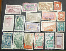 French Colonies - used/mh- 18 stamps- F-245