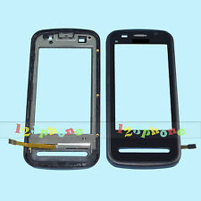 LCD TOUCH SCREEN LENS GLASS DIGITIZER WITH FRAME FOR NOKIA C6-00 #GS-166_BLACK