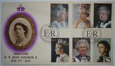 GB 1953 QEII Coronation Couvercle avec 2013 Royal Portraits Timbres & Sp. Cancel
