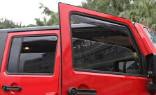 Fit for Jeep Wrangler 4 Door 2004-2017 Window Visors Side Mirror Rain Guard Trim