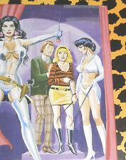Eric STANTON Fetisch Kult Erotik Postkarte Akt Bdsm Zeichnung Domina Boots whip