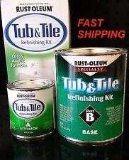 RUSTOLEUM TUB & TILE WHITE REFINISHING PAINT KIT TILES BATHTUB SINK SHOWER BRUSH