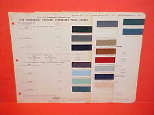 1958 STUDEBAKER PACKARD CHAMPION COMMANDER SILVER GOLDEN HAWK TRUCK PAINT CHIPS