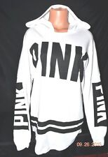 Victorias Secret Pink GRAPHIC Oversized Varsity Hoodie Slouchy NWT S