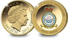 The RAF 617 Squadron Coin Collection plated in 24-carat gold BRAND NEW COA #