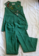 Girl Scout 1973-1985 3-Piece JUNIOR UNIFORM Jumper Pants Sash HALLOWEEN COSTUME