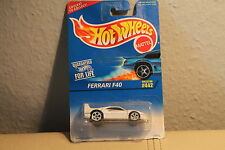 HOT WHEELS * MATTEL * FERRARI  F40 * WHITE * ULTRA RAR * 1995