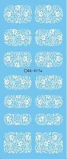 Nail Art Water Transfers Stickers Decals WHITE Flowers Roses Lace Stamping DS17