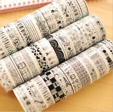 10pcs Personality Roll DIY Washi Paper Decorative Sticky Paper Masking Tape Self
