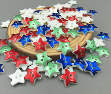 100pcs star Sewing Buttons Resin scrapbooking Mixed-color decoration 13mm