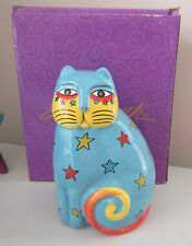 Laurel Burch Cat Star Feline Figurine NIB Kitten Home Office Decor