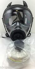 Mestel Safety SGE 400 Gas Mask w/40mm NATO NBC/CBRN Filter - NEW / Made in 2016