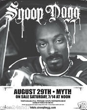 SNOOP DOGG 2007 MINNEAPOLIS CONCERT TOUR POSTER - Sitting In Car Wearing Jersey