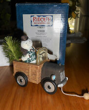 NIB Enesco Sam in Truck Pull Toy Ornament Rudolph Christmas Collectible