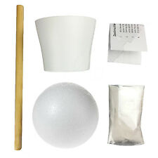 Sweet/Candy Tree Make Your Own DIY Kit Ceramic Pot, 120mm Ball, Dowel & Plaster