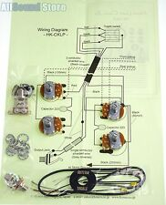 NEW- Wiring Kit for Gibson EPIPHONE® LES PAUL COMPLETE w Diagram - MADE IN JAPAN