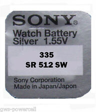 1 x Sony 335 Uhrenbatterien Knopfzelle BATTERIE V335  1,55V SR512 SR512SW NEU