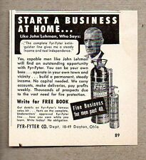 1960 Print Ad Fyr-Fyter Fire Extinguishers Made in Dayton,OH