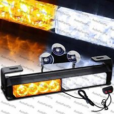 "9.5"" in LED White Amber Bar Emergency Truck Strobe Flash Light Warning Truck"
