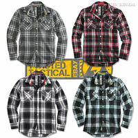 Surplus Lumberjack Mens Casual Or Work Long Sleeve Checked Shirt Brushed Cotton