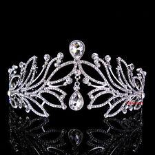 6cm Hoch Große Blatt Königin Hochzeit Braut Haarschmuck Krone Diademe Tiara